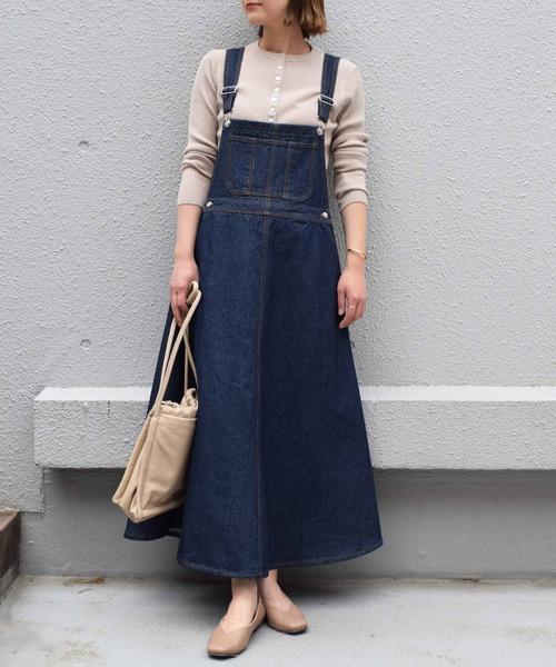 [PICCIN] デニムジャンパースカート