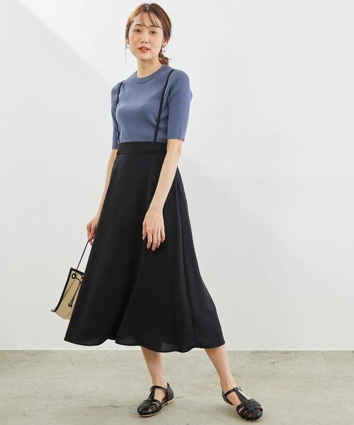 [ROPE' PICNIC] サス付きフレアースカート