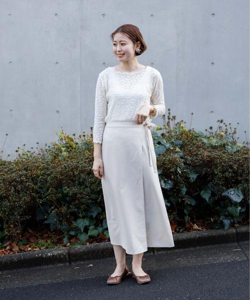 [flower] ギンガムラップスカート