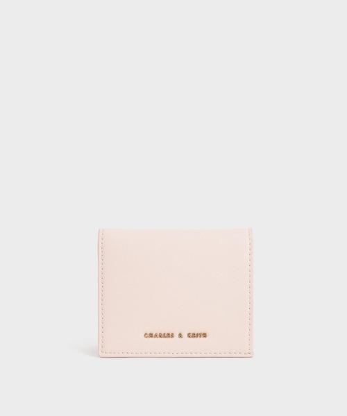 シンプルなのに女性らしいミニ財布
