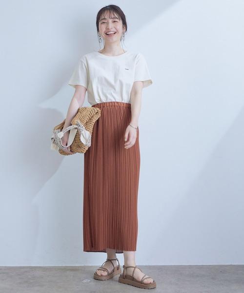 アソートプリントIラインプリーツスカート