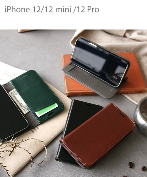 [Hamee] iPhone12 iphone12Pro iPhone12mini oregalo(オレガロ) スタンド機能付き ダイアリーケース スマホケース 手帳型ケース スマホスタンド カード収納