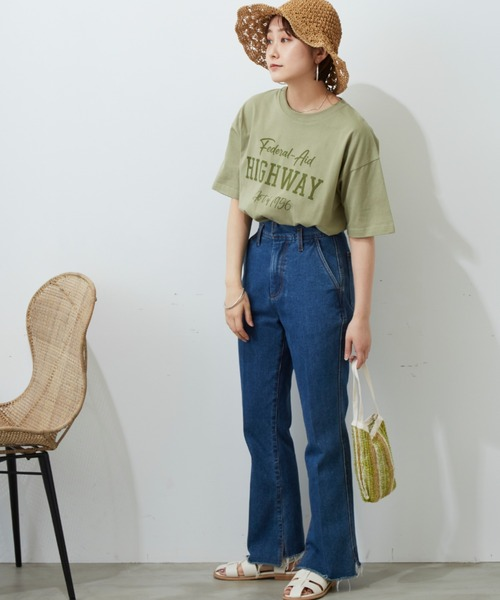 HIGH WAY プリントTシャツ