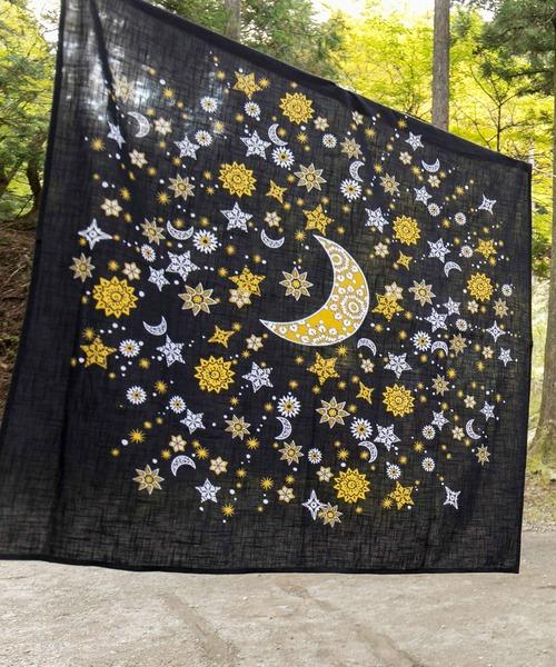 [チャイハネ] 【チャイハネ】大風呂敷 夜空に輝く月星