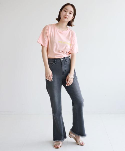 [IENA] SLOBE citron. sois toi Tシャツ【手洗い可能】◆