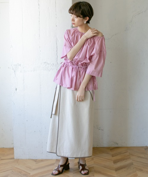 [URBAN RESEARCH OUTLET] ドロストギャザーブラウス∴