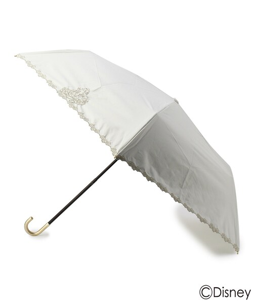 [grove] Wpc. 遮光刺しゅう晴雨兼用折り畳み傘(ラプンツェル)