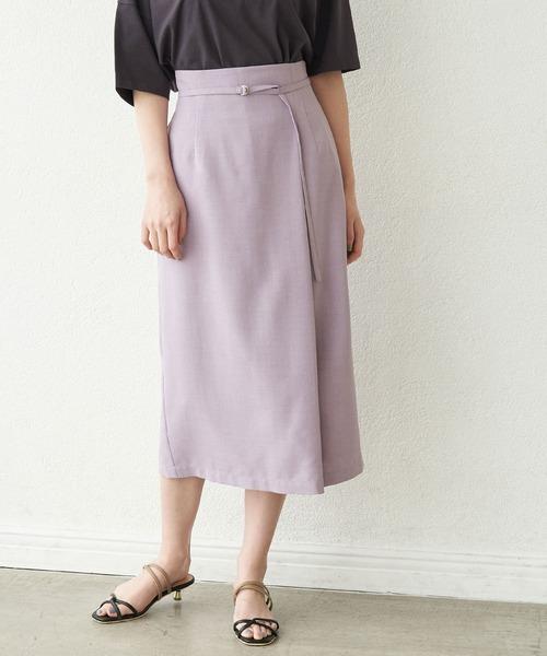 [ROPE' PICNIC] 【セットアップ対応】リネンライクラップスカート