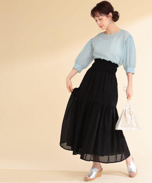 [BEAMS WOMEN] Ray BEAMS / メッシュ ティアード スカート