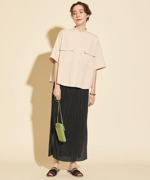 [BEAUTY&YOUTH UNITED ARROWS] BY∴ プリーツスリットスカート -ウォッシャブル-
