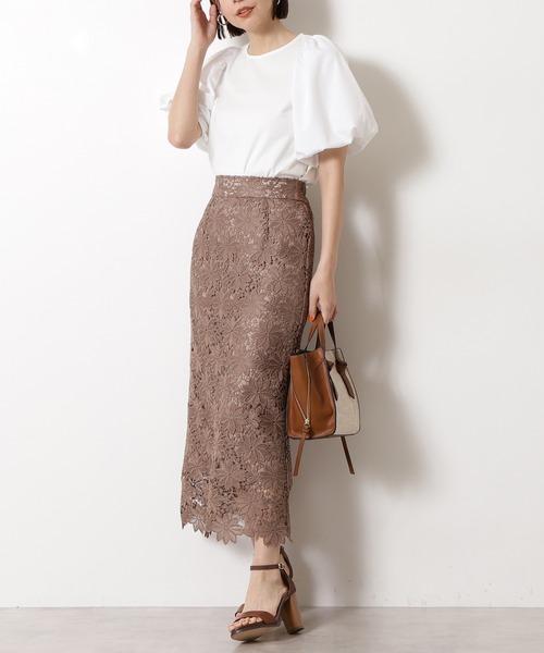 [N.(N. Natural Beauty Basic)] 【追加生産】◆ケミカルレースロングスカート