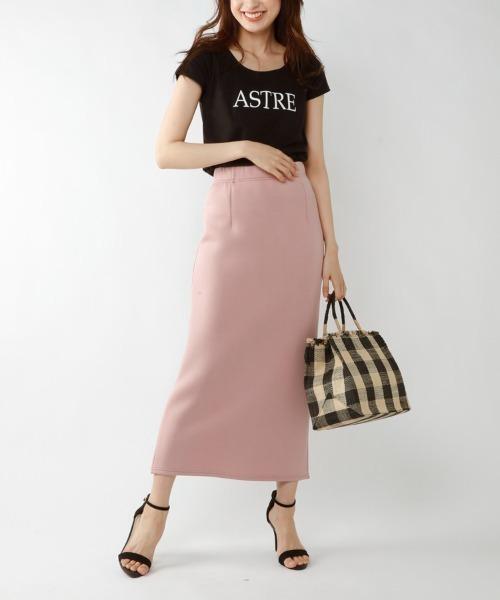 [M.deux] ロングタイトスカート