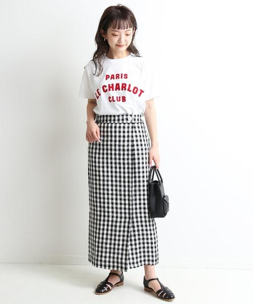 [IENA] リネンラップスカート【手洗い可能