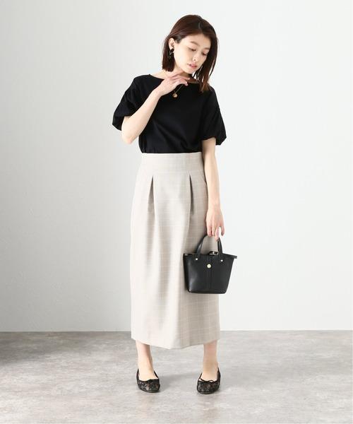 [La TOTALITE] オックスカーブポケットタイトスカート【手洗い可能】
