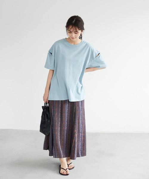[CRAFT STANDARD BOUTIQUE] 綿レーヨンフレアスカート *◇