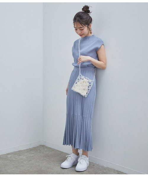 [ViS] 【星玲奈さんコラボ】【セットアップ対応】ラメニットリブマーメイドスカート