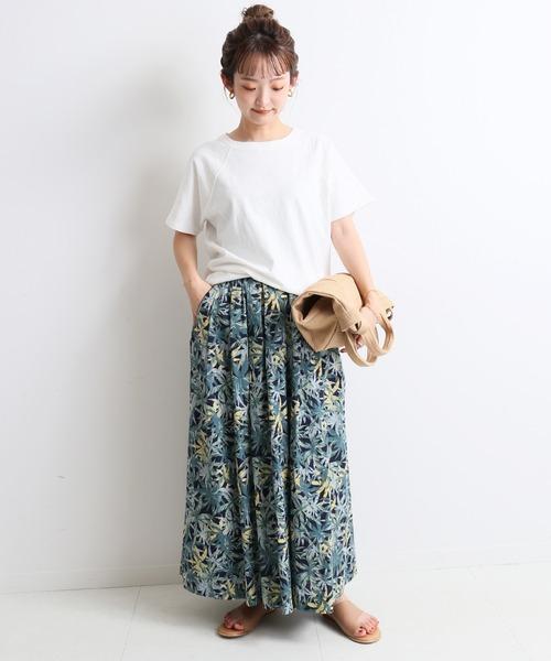 [IENA] スラブ天竺ラグランTシャツ【手洗い可能】◆