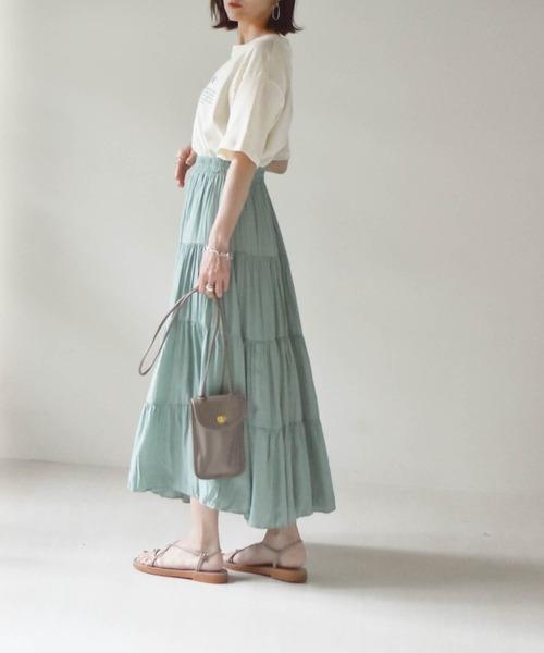 [wears] ティアードマキシスカート