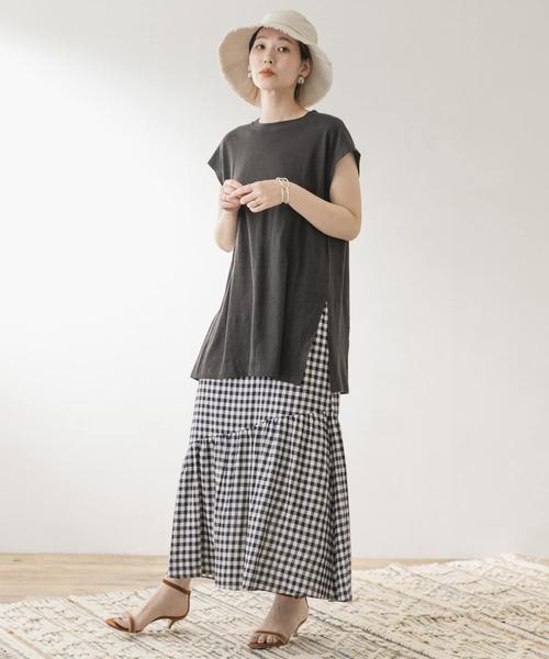 [URBAN RESEARCH ROSSO WOMEN] F by ROSSO ギンガムチェックマーメイドスカート