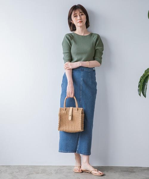 [apart by lowrys] デニムロングタイトスカート