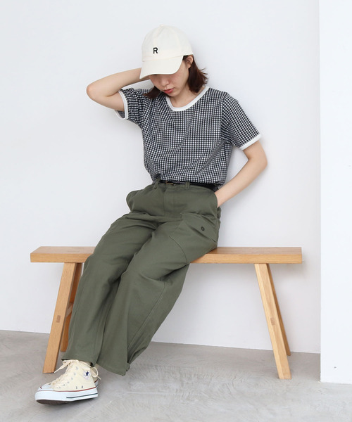 [PAR ICI] 【WEB別注】アルファベット刺繍キャップ