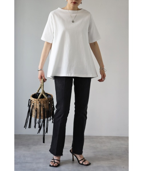 【Bonjour Sagan】裾フレアTシャツ