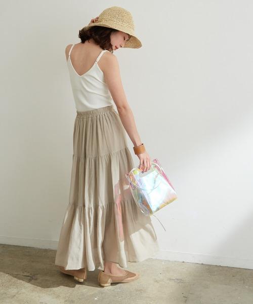 [ViS] 【vis-`a-vis】楊柳ティアードマキシスカート