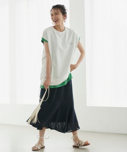[BARNYARDSTORM] BARNYARDSTORM / カットジョーゼットスカート