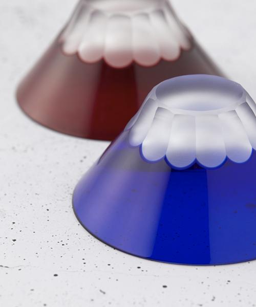 日本製の美しい江戸硝子ペアタンブラー