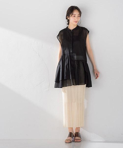 [Droite lautreamont] ニットプリーツタイトスカート【セットアップ可能】<手洗い可能>
