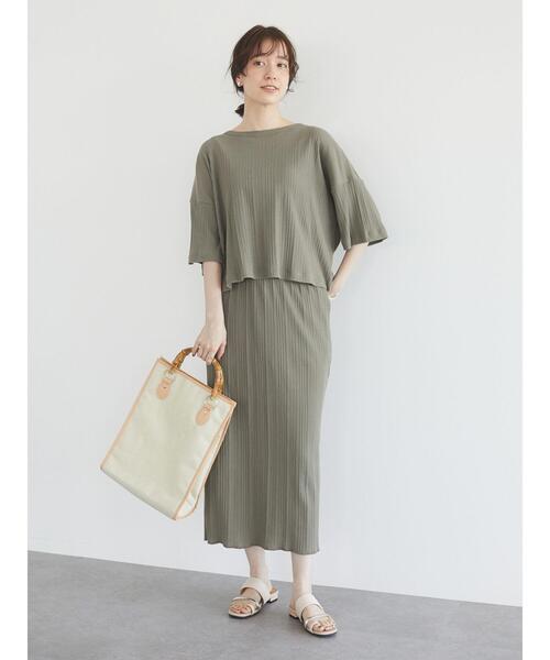 ランダムリブタイトスカート
