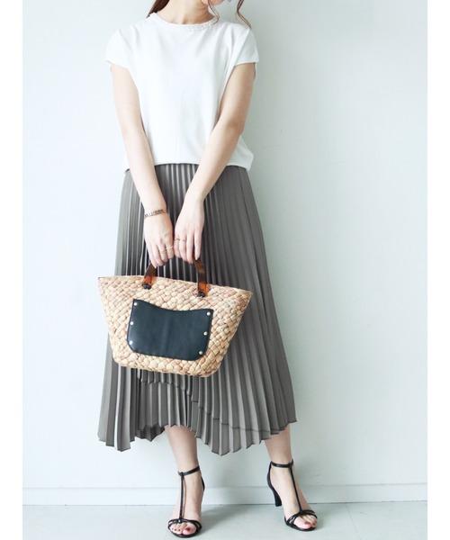 [Te chichi] ◎サテンラッププリーツスカート