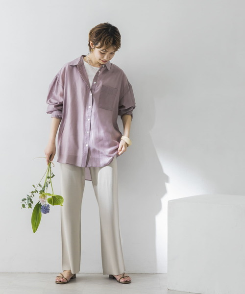 [URBAN RESEARCH] 【WEB限定】カラーシアーシャツ