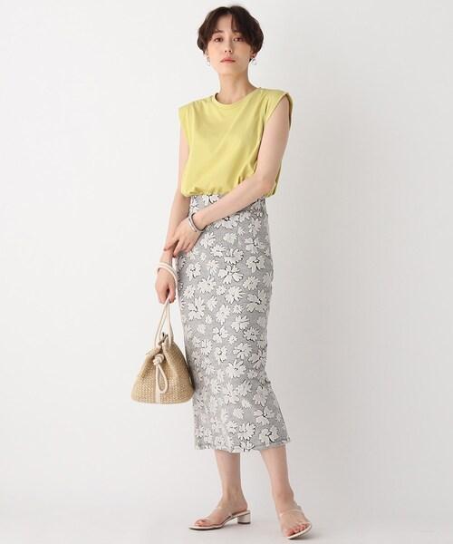 [AG by aquagirl] ジャカードジャージタイトスカート