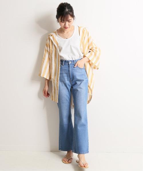 [IENA] LE DENIM フレアパンツ【洗濯機使用可能