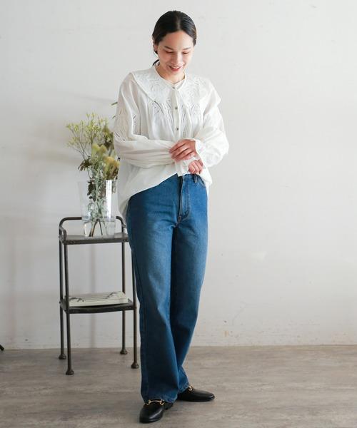 [NOMBRE IMPAIR] インドネシア刺繍 付け衿ブラウス4