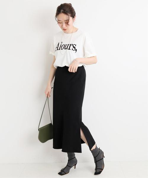 [IENA] マットストレッチスリットスカート◆