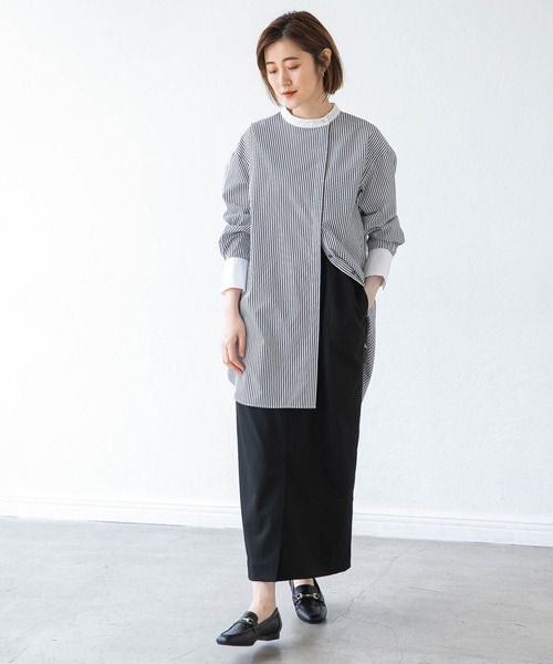[apart by lowrys] 【ソロテックス】使用/スタンドロングシャツ