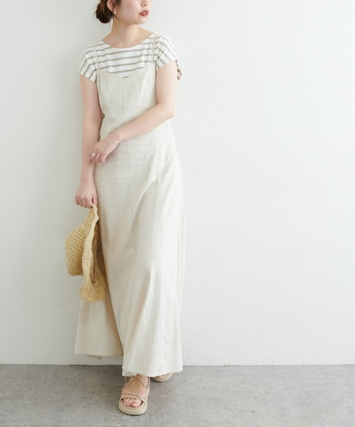 [natural couture] 【WEB限定】フレンチスリーブボーダーT