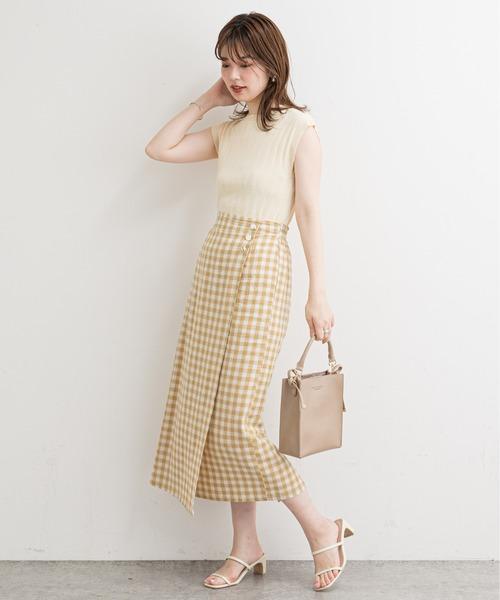 [natural couture] ギンガムチェックスカート
