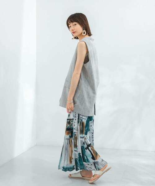 [KBF] 【WEB限定】クリンクルプリントスカート