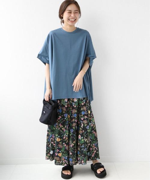 [JOURNAL STANDARD] ブラックフローラルマーメイドスカート◆