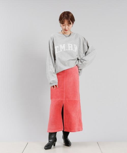 [DouDou] リアルスウェードロングスカート
