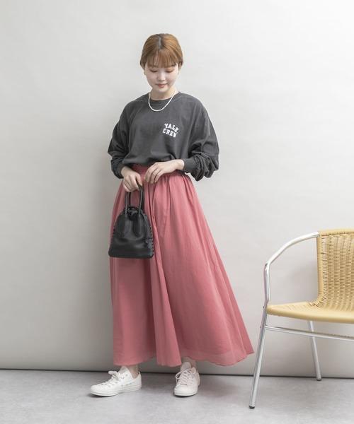 [URBAN RESEARCH] 【Sサイズ/低身長向け】UR Lab. ギャザーロングスカート