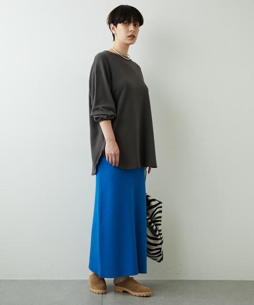 [Whim Gazette] 接結ニットスカート