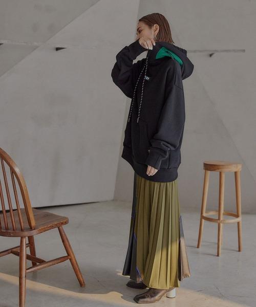 [UN3D.] カッティングプリーツスカート