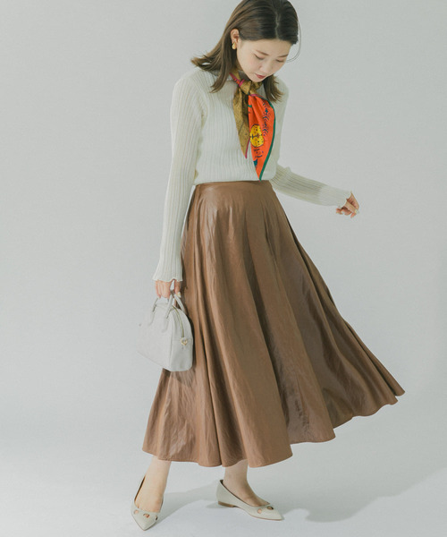 [URBAN RESEARCH ROSSO WOMEN] ウォッシャブルフェイクレザーロングスカート