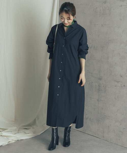 [URBAN RESEARCH ROSSO WOMEN] ロングシャツワンピース