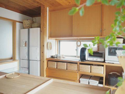 無印のキッチン背面収納13