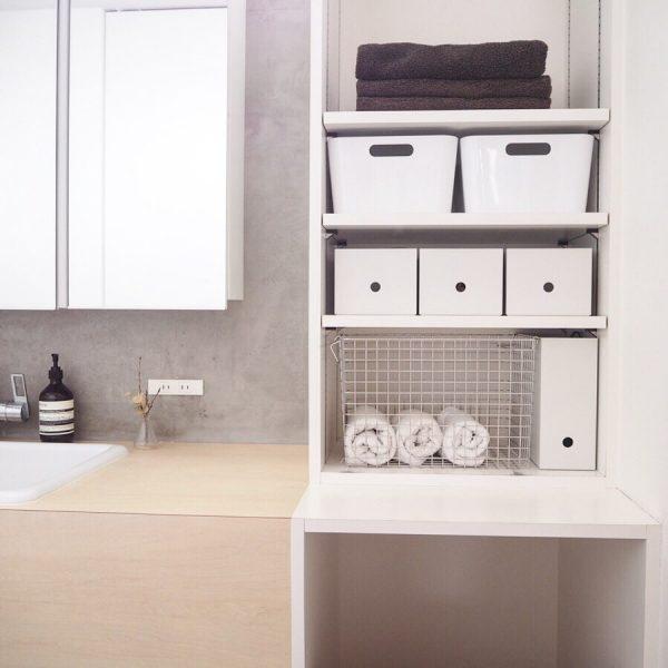 スッキリ見せる収納で清潔感もアップ